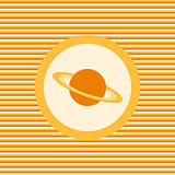 Planet color flat icon