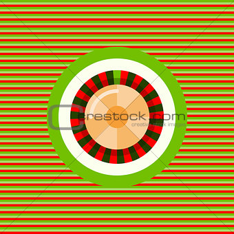 Casino roulette color flat icon