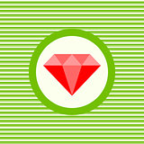 Ruby color flat icon