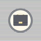 Briefcase color flat icon