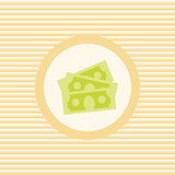 Dollars stack color flat icon