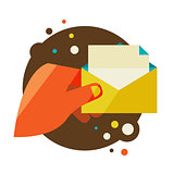 Man holding an envelope with a letter.