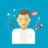 dentist occupation vector illustration
