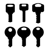 Keys Silhouettes Icons