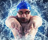 Splash professional swimmer