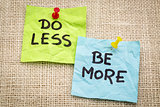 do less be more motivation