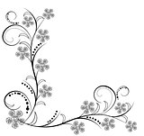 Antique flowers ornaments vectors