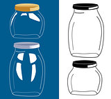 vector set of glass bottle,-jar