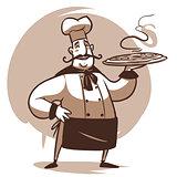 cartoon cook character