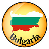 orange button with the image maps of button Bulgaria