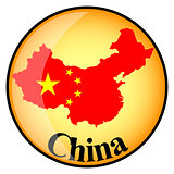 orange button with the image maps of China