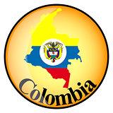 orange button with the image maps of Colombia