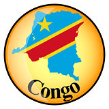 orange button with the image maps of Congo