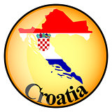 orange button with the image maps of Croatia