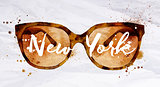 Watercolor glasses New York