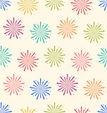 Seamless Pattern Colorful Firework for Holiday Celebration Event