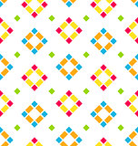 Seamless Pattern with Colored Rhombus, Regular Background