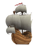 Caravel With White Sails