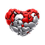 Heart Icon, 3D Illustration of High Resolution Rendering