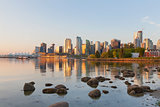 Vancouver BC City Skyline Morning
