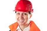 Female industrial worker.