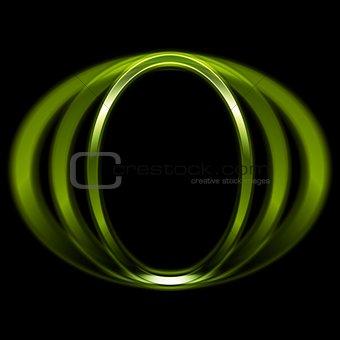 Green shiny circle logo design
