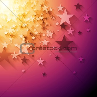 Bright stars abstract vector background