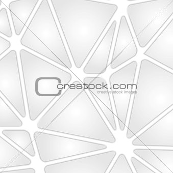 Grey tech background with geometric shapes