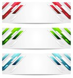 Hi-tech geometric abstract banners