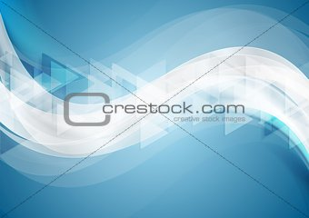 Abstract tech wavy geometric background