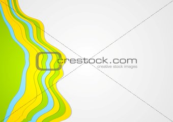 Abstract colorful waves vector background