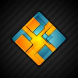 Abstract square logo design