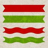 Grunge hipster retro ribbons