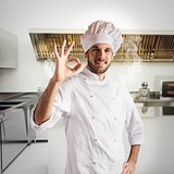 Chef confident in kitchen