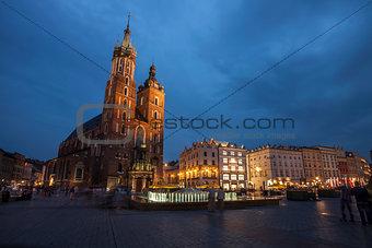 Church of St. Mary in Krakow Main Market Square