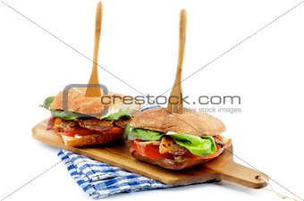 Ciabatta Bacon Sandwiches