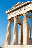 Columns of Parthenon in Athenian Acropolis