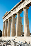 Columns of Parthenon in Athens