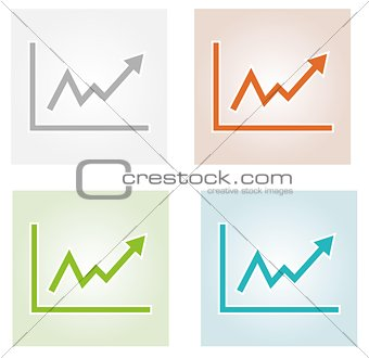 growing graph icons