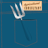 Symbolic jeans pocket Agricultural Consultant