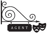 Vintage street pointer theatrical agent