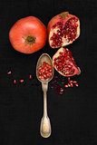 Pomegranate background.