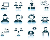 Set of business people icon