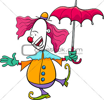 circus clown cartoon illustration