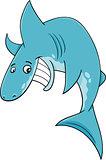 shark fish cartoon illustration