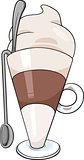 latte macchiato cartoon illustration
