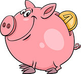 piggy bank with coin cartoon