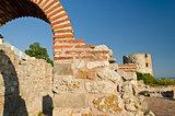 Ruins of the ancient Basilica of the Holy Mother of God Eleusa, Nesebar, Bulgaria