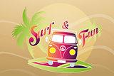 Surf retro travel van