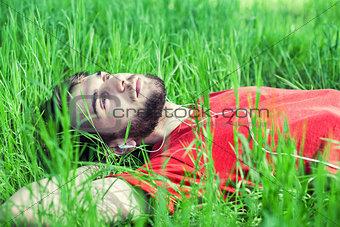 Boy in a grass